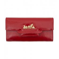 Dámská kožená peněženka Peterson červená