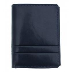 Pánská kožená peněženka Wojewodzic tmavě modrá