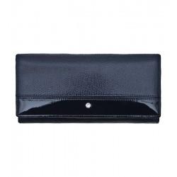Dámská kožená peněženka Wojewodzic Swarovski tmavě modrá