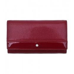 Dámská kožená peněženka Wojewodzic Swarovski červená