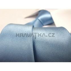 Světle modrá kravata SLIM - lesklá