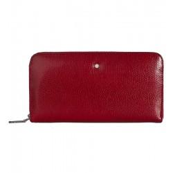 Dámská kožená peněženka Wojewodzic červená krokodýl