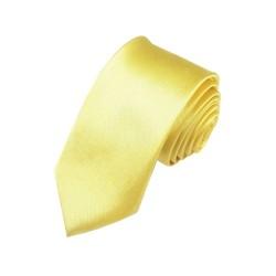 Žluto/zelenkavá kravata SLIM - lesklá