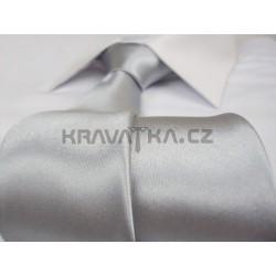 Strieborná kravata SLIM - lesklá