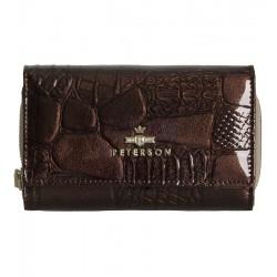 Dámská peněženka z lakované kůže Peterson hnědá