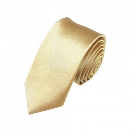 Jednobarevná SLIM kravata (měděná)
