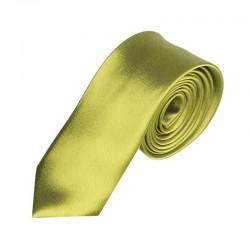 Olivově zelená kravata SLIM - lesklá