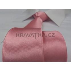 Starorůžová kravata SLIM - lesklá