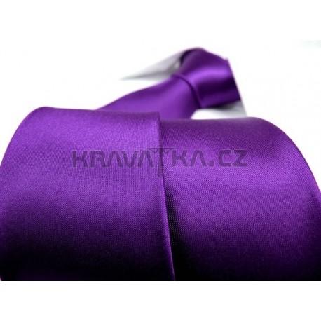 Jednobarevná SLIM kravata (fialová 2)