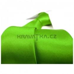 Jednobarevná SLIM kravata - razící zelená