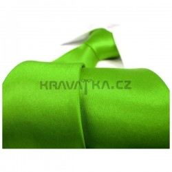 Razící zelená kravata SLIM - lesklá