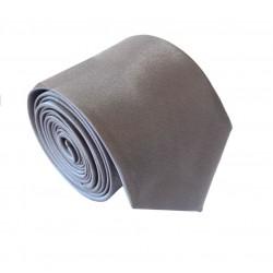 Tmavě šedá kravata SLIM - lesklá