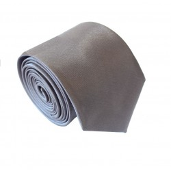 Tmavo šedá kravata SLIM - lesklá