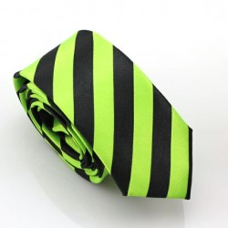 Crazy kravata (zeleno-černé proužky)