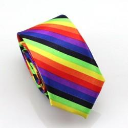 Crazy kravata (barevné proužky)