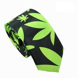 Crazy kravata (zelené listy)