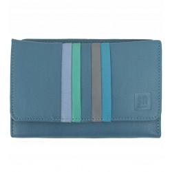 Dámská kožená peněženka Słoń Torbalski světle modrá