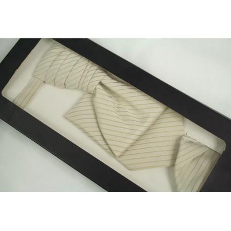 Svatební kravata s kapesníčkem SK-006