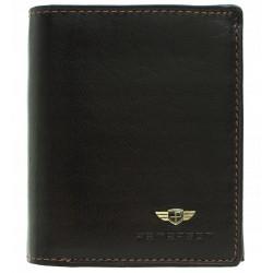 Pánská peněženka Peterson RFID tmavě hnedá