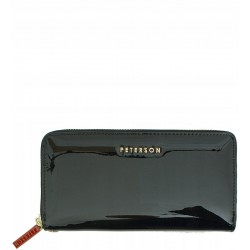 Dámská kožená peněženka Peterson lakovaná černá