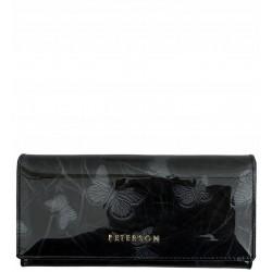 Dámská kožená peněženka Peterson černá motyl