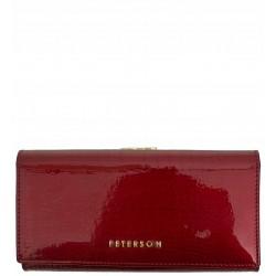 Dámská kožená peněženka Peterson červená hadí kůže 2