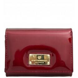 Dámská kožená peněženka Peterson červená lakovaná