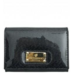 Dámská kožená peněženka Peterson černá lakovaná