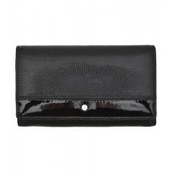 Dámská kožená peněženka Wojewodzic Swarovski černá