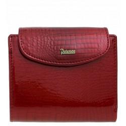 Dámská kožená peněženka Peterson - červená