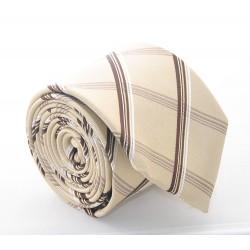 Hedvábná kravata ADRIANO GUINARI - hnědé káro
