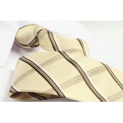Hedvábná kravata ADRIANO GUINARI (hnědé káro)