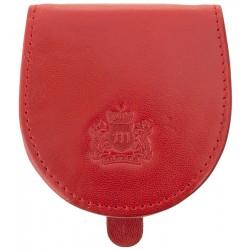 Kožená peněženka Marco na mince - červená
