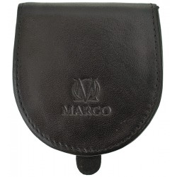Kožená peněženka Marco na mince - černá