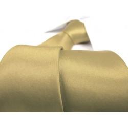 Jednobarevná SLIM kravata (zeleno-zlatá)
