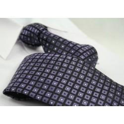 Kravata ANGELO di MONTI (fialová kostičky)