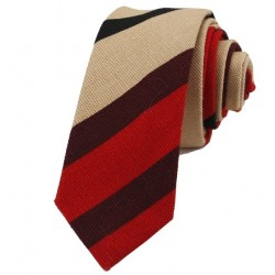 Kravata MARROM - prúžky I