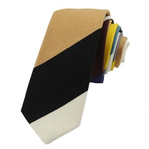 Kravata MARROM - proužky II