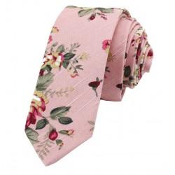 Kravata MARROM - floral