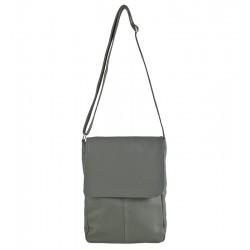 Velká kožená kabelka šedá