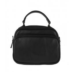 Malá italská kožená kabelka černá