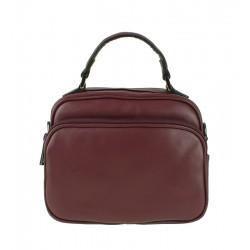 Malá italská kožená kabelka bordó