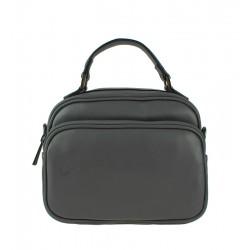 Malá italská kožená kabelka šedá