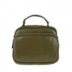 Malá italská kožená kabelka zelená