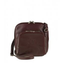 Malá italská kožená kabelka červená