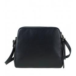 Malá italská kožená kabelka tmavě modrá
