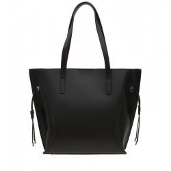 Klasická italská kožená kabelka černá
