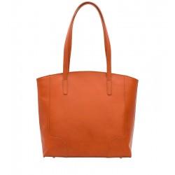 Klasická kožená kabelka světle hnědá