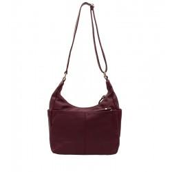 Klasická kožená kabelka bordó