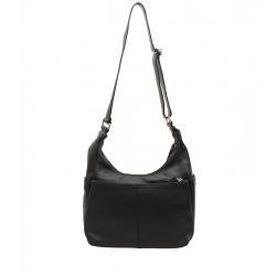 Klasická kožená kabelka černá